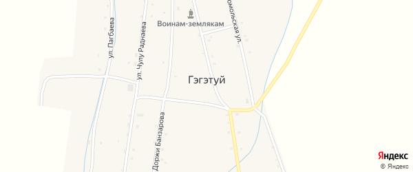 Улица Доржи Банзарова на карте улуса Гэгэтуй с номерами домов
