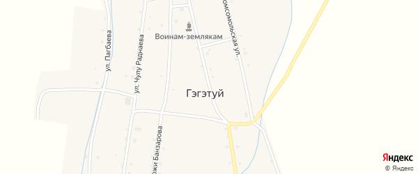 Улица Ленина на карте улуса Гэгэтуй с номерами домов