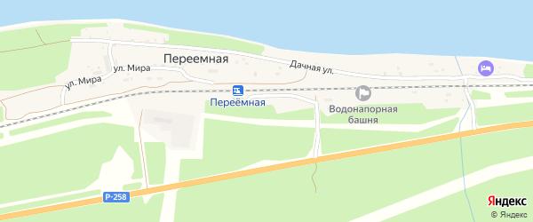 Путейская улица на карте поселка Переемной с номерами домов