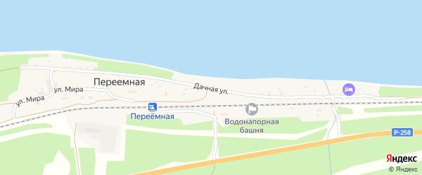 Дачная улица на карте поселка Переемной с номерами домов