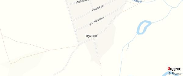 Карта села Булыка в Бурятии с улицами и номерами домов