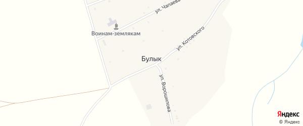 Клубный переулок на карте села Булыка с номерами домов