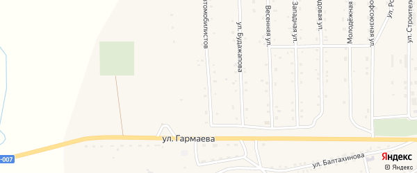 Улица Автомобилистов на карте села Петропавловки с номерами домов