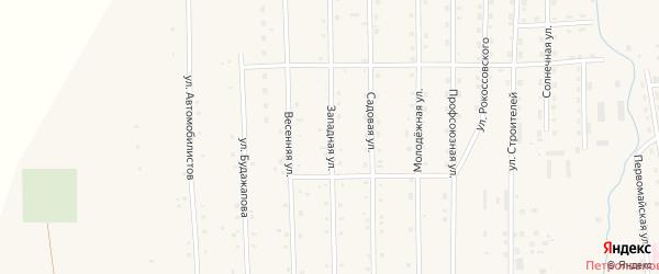 Западная улица на карте села Петропавловки с номерами домов