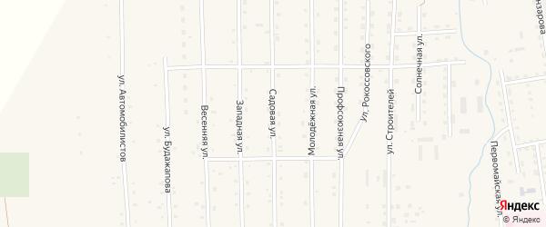 Садовая улица на карте села Петропавловки с номерами домов