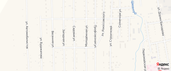 Молодежная улица на карте села Петропавловки с номерами домов