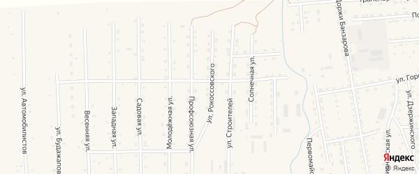 Улица Рокоссовского на карте села Петропавловки с номерами домов