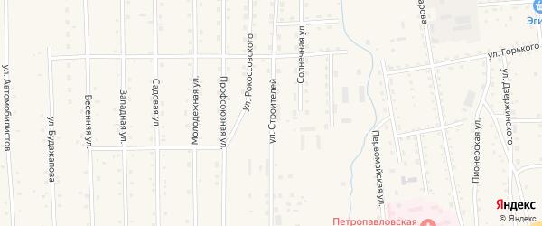 Улица Строителей на карте села Петропавловки с номерами домов