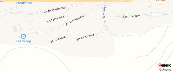 Улица Калинина на карте села Петропавловки с номерами домов