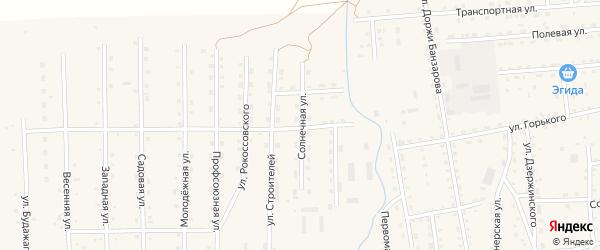 Солнечная улица на карте села Петропавловки с номерами домов