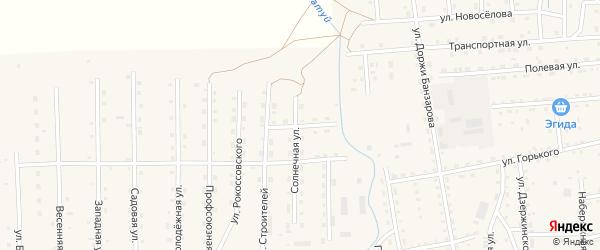 Красноармейская улица на карте села Петропавловки с номерами домов