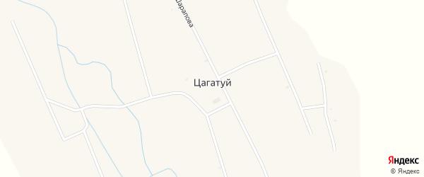 Улица Хандажапова на карте улуса Цагатуй с номерами домов