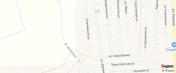 Ключевская улица на карте села Петропавловки с номерами домов