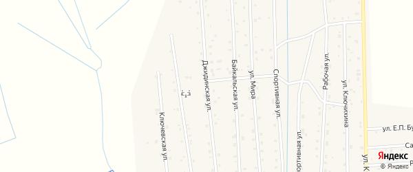 Джидинская улица на карте села Петропавловки с номерами домов
