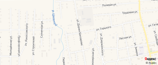 Улица Доржи Банзарова на карте села Петропавловки с номерами домов