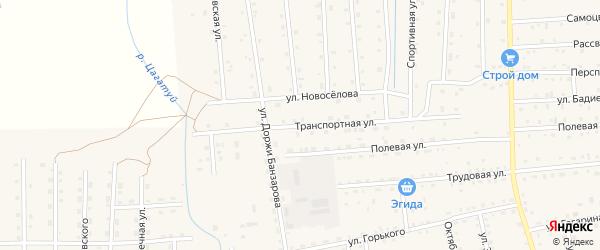 Транспортная улица на карте села Петропавловки с номерами домов