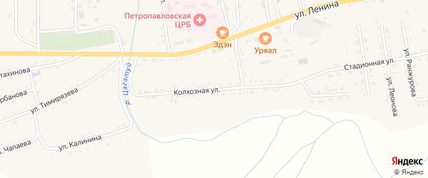 Колхозная улица на карте села Петропавловки с номерами домов