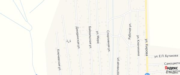 Байкальская улица на карте села Петропавловки с номерами домов