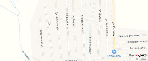 Улица Мира на карте села Петропавловки с номерами домов