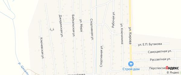 Спортивная улица на карте села Петропавловки с номерами домов