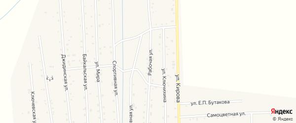 Рабочая улица на карте села Петропавловки с номерами домов