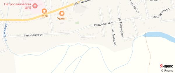Береговая улица на карте села Петропавловки с номерами домов