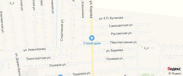 Улица Кирова на карте села Петропавловки с номерами домов