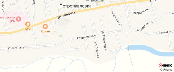 Стадионная улица на карте села Петропавловки с номерами домов