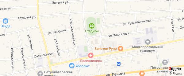 Улица Терешковой на карте села Петропавловки с номерами домов