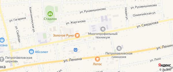 Улица Свердлова на карте села Петропавловки с номерами домов