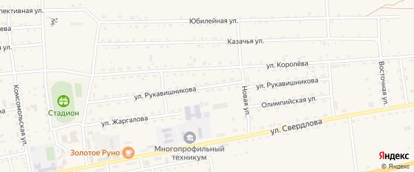 Улица Рукавишникова на карте села Петропавловки с номерами домов