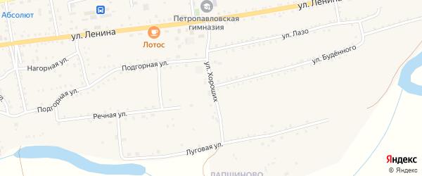 Улица Хороших на карте села Петропавловки с номерами домов