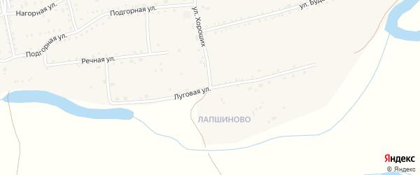 Луговая улица на карте села Петропавловки с номерами домов