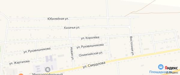 Улица Королева на карте села Петропавловки с номерами домов