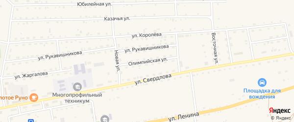 Олимпийская улица на карте села Петропавловки с номерами домов