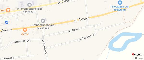 Улица Лазо на карте села Петропавловки с номерами домов