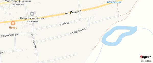 Улица Буденного на карте села Петропавловки с номерами домов