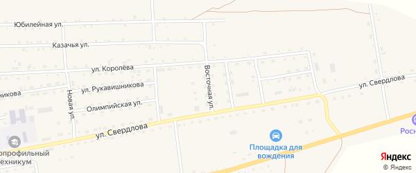 Восточная улица на карте села Петропавловки с номерами домов