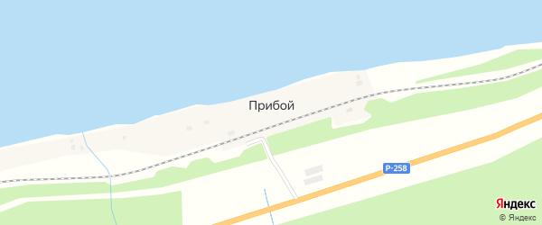 Береговая улица на карте Прибоя поселка с номерами домов