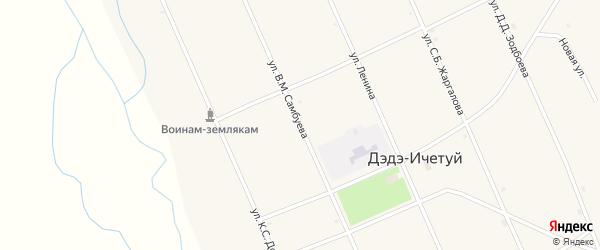 Улица Самбуева В.М. на карте улуса Дэдэ-Ичетуй с номерами домов