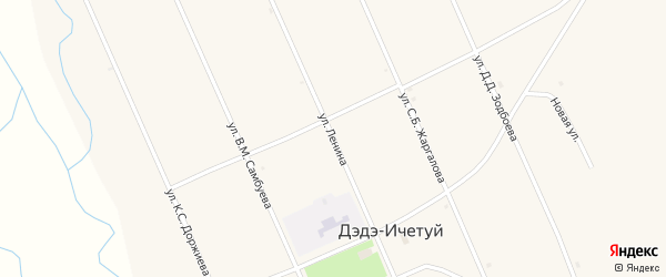 Улица Ленина на карте улуса Дэдэ-Ичетуй с номерами домов