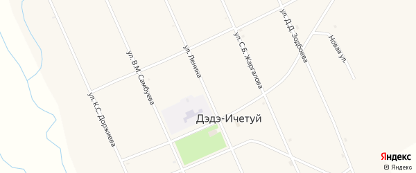 Улица Зодбоева Д.Д. на карте улуса Дэдэ-Ичетуй с номерами домов