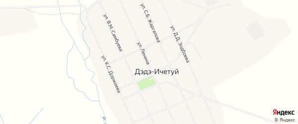 Местность Шарагол на карте улуса Дэдэ-Ичетуй с номерами домов