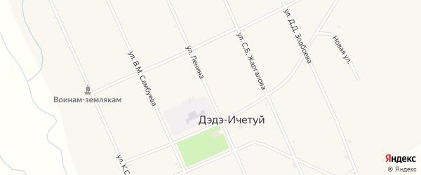 Улица Жаргалова С.Б. на карте улуса Дэдэ-Ичетуй с номерами домов