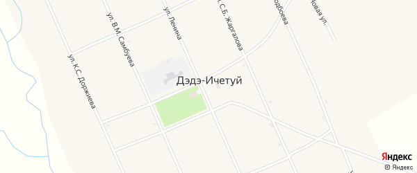 Улица Доржиева К.С. на карте улуса Дэдэ-Ичетуй с номерами домов