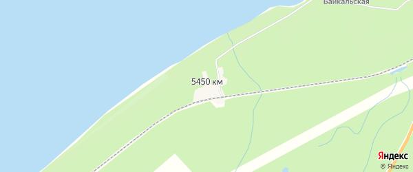 Карта поселка 5450 км в Бурятии с улицами и номерами домов