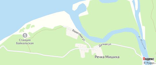 Береговая улица на карте поселка Речки Мишихи с номерами домов