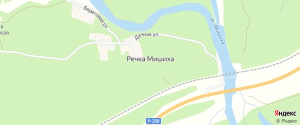Железнодорожная улица на карте поселка Речки Мишихи с номерами домов