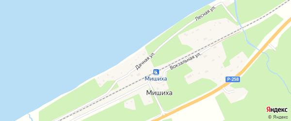 Дачная улица на карте поселка Мишихи с номерами домов
