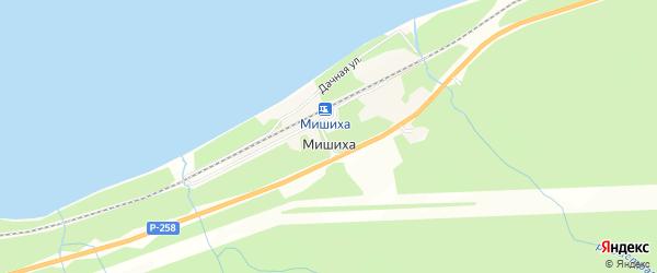 Карта поселка Мишихи в Бурятии с улицами и номерами домов